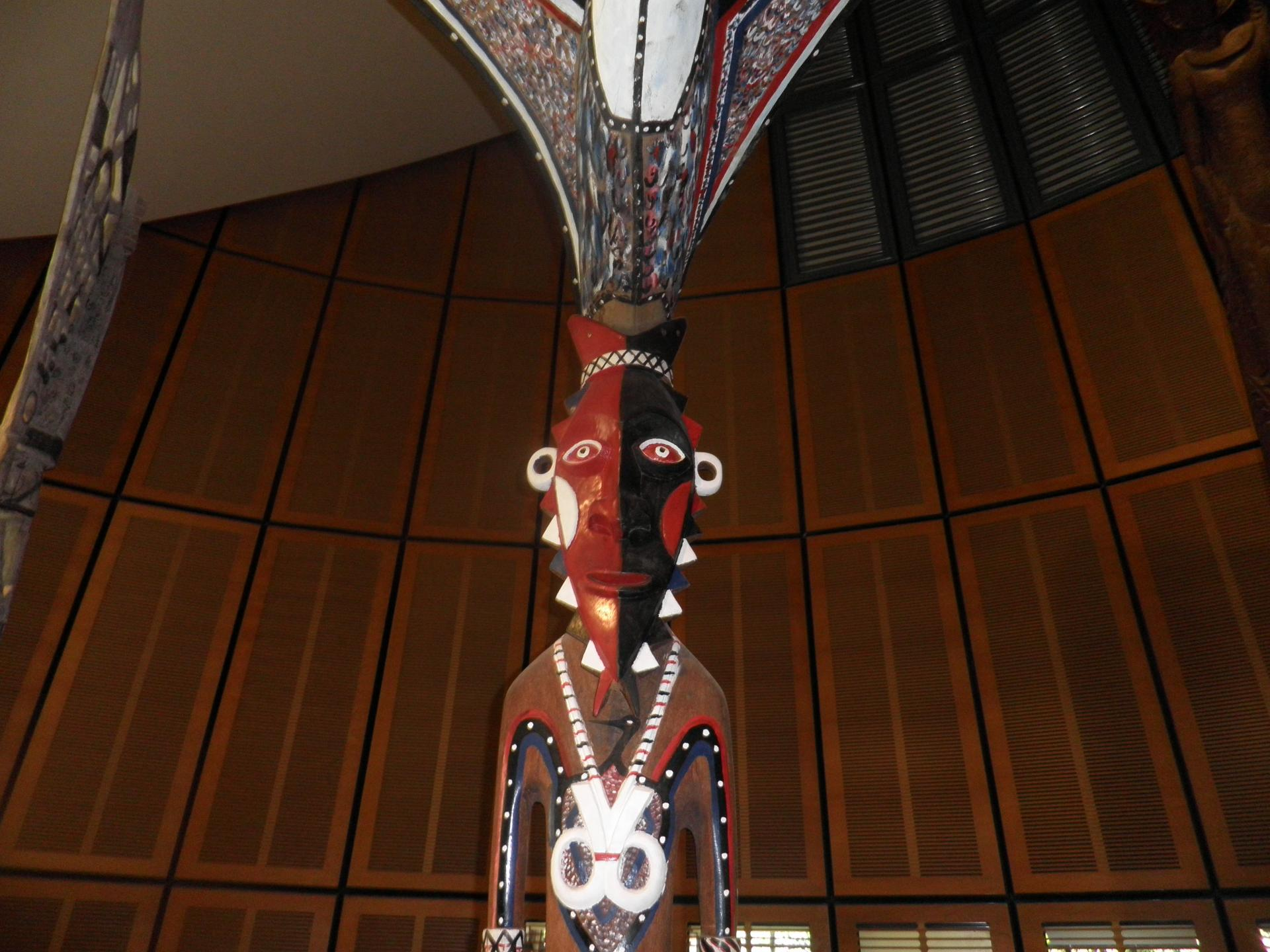 Sculpture du Vanuatu- Centre culturel -Marie Tjibaou - mai 2018- Photo Fabienne