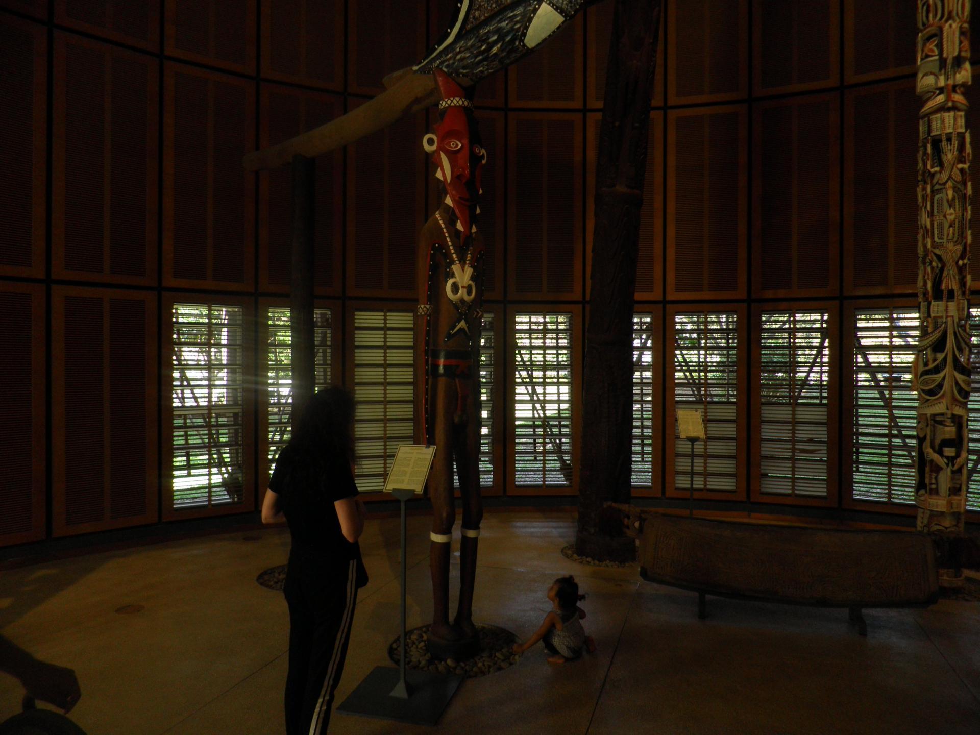 Sculpture du Vanuatu- Centre culturel Jean-Marie Tjibaou-  mai 2018 Photo Franck