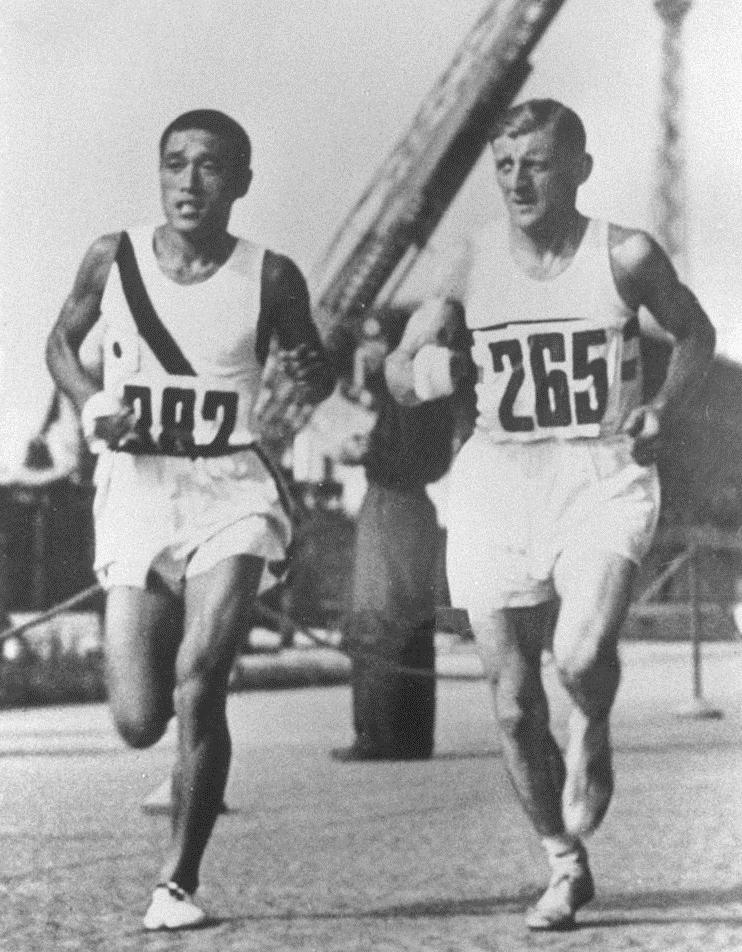 Sohn kee chung and ernie harper 1937